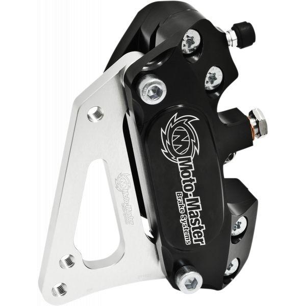 Kit Upgrade Frana Motomaster Kit Etrier Frana 4 pistoane + Adaptor Supermoto Racing Negru - 210024