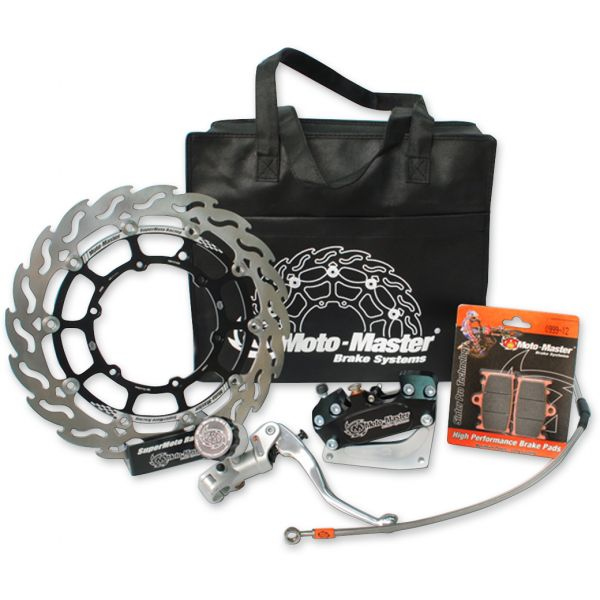 Kit Upgrade Frana Motomaster Kit Race Supermoto: Disc Flotant Flame 300mm, Placute Frana, Adaptor Etrier Frana 4 pistoane, Radial Master Cylinder - 313058