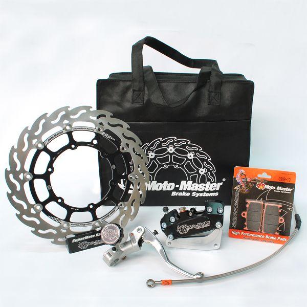 Kit Upgrade Frana Motomaster Kit Race Supermoto: Disc Flotant Flame 320mm, Placute Frana, Adaptor Etrier Frana 4 pistoane, Radial Master Cylinder - 313049