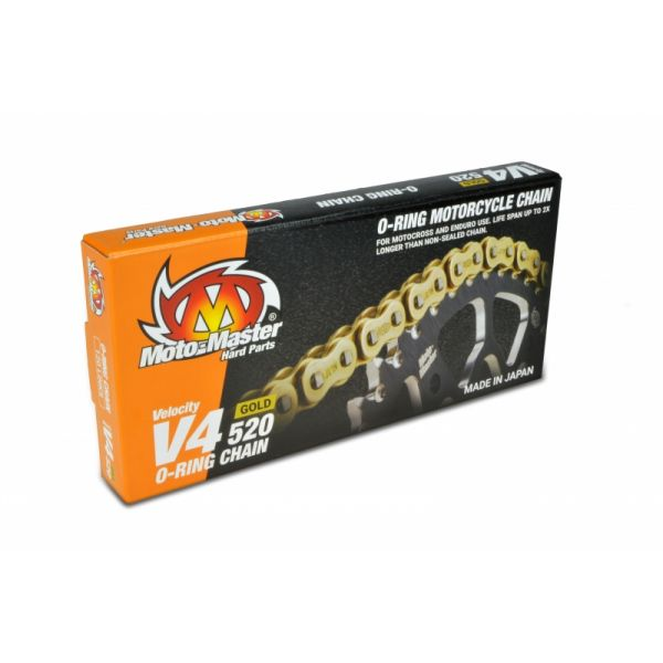 Kit de lant Motomaster Lant O-Ring V4 520 Auriu 120 Pre 652002