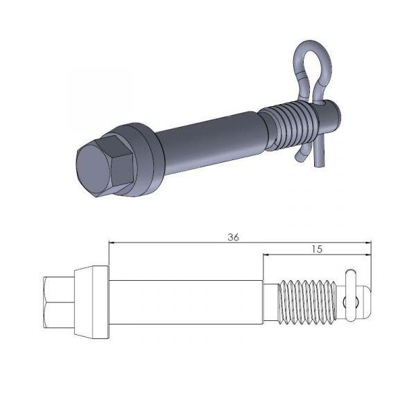 Kit Reparatie Frana Motomaster Pin (Cui de schimb ) Placute Frana  - 213058