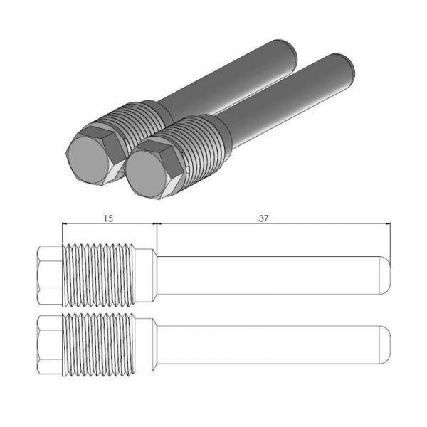 Kit Reparatie Frana Motomaster Pin (Cui de schimb ) Placute Frana  - 213065