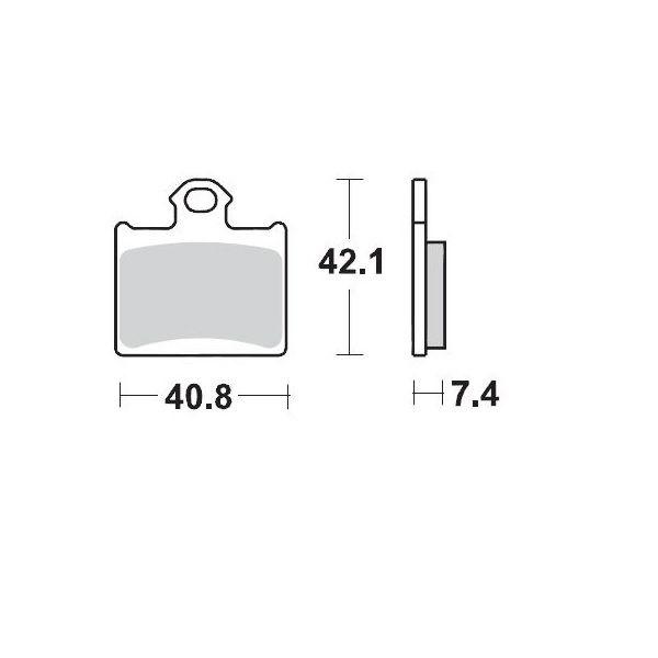 Placute de frana Motomaster Placute Frana Spate KTM Freeride/SX85/ Hsq TC85