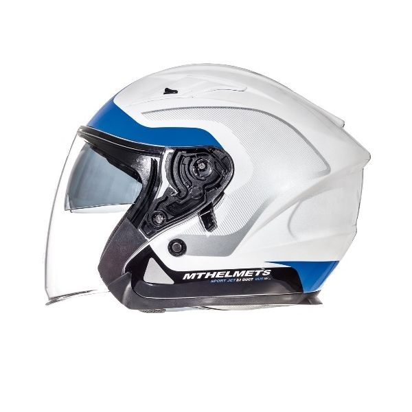MT Helmets LICHIDARE STOC Casca Avenue SV Crossroad White/Blue Gloss