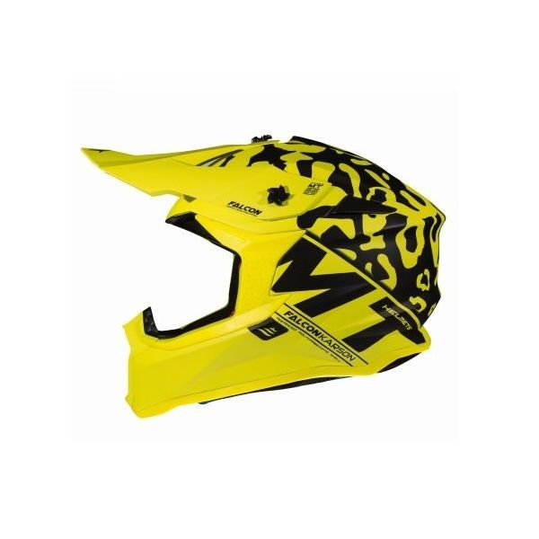 Casti MX-Enduro MT Helmets Casca Falcon Karson F2 Yellow Mat