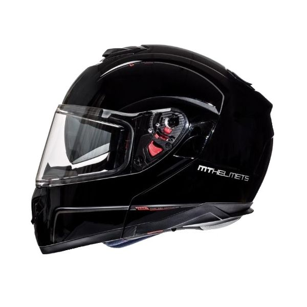 MT Helmets Casca Flip-Up Atom SV Black Gloss
