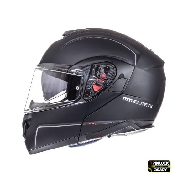 MT Helmets Casca Flip-Up Atom SV Black Mat