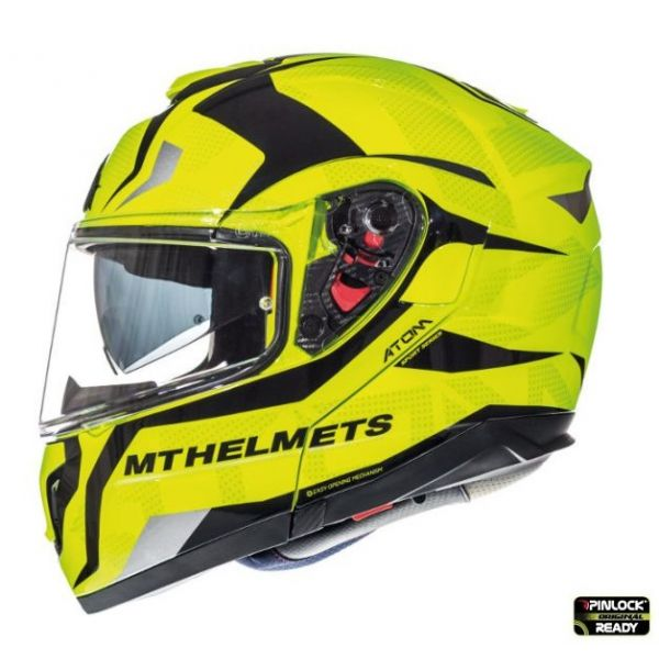 MT Helmets Casca Flip-Up Atom SV Divergence F1 Yellow/Black Gloss