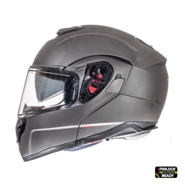 Casti Moto Flip-up (Modulabile) MT Helmets Casca Flip-Up Atom SV Titanium Mat