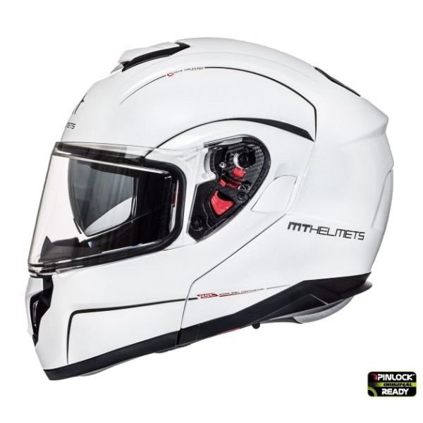 MT Helmets Casca Flip-Up Atom SV White Gloss