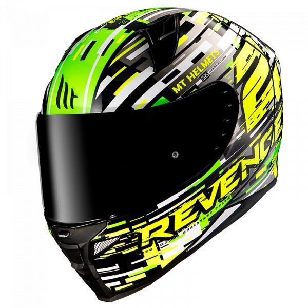 Casti Integrale MT Helmets Casca Integrala Revenge 2 Baye A6 Verde Lucios 2020