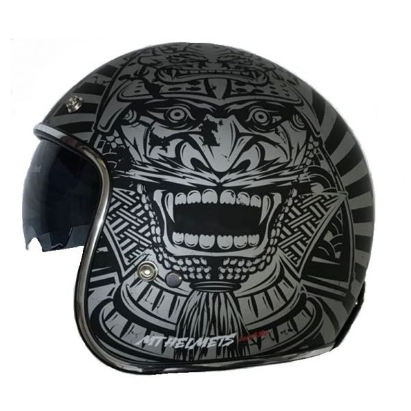 MT Helmets Casca Le Mans SV Bushido Black/Gray Mat