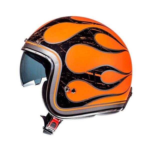 MT Helmets Casca Le Mans SV Flaming Black/Orange Mat