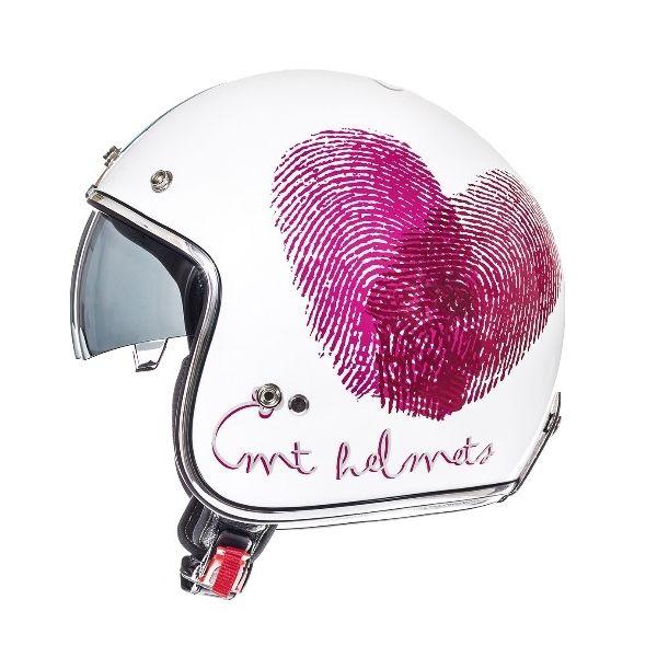 Casti Jet (Open Face) MT Helmets Casca Le Mans SV Love White/Red/Pink Gloss