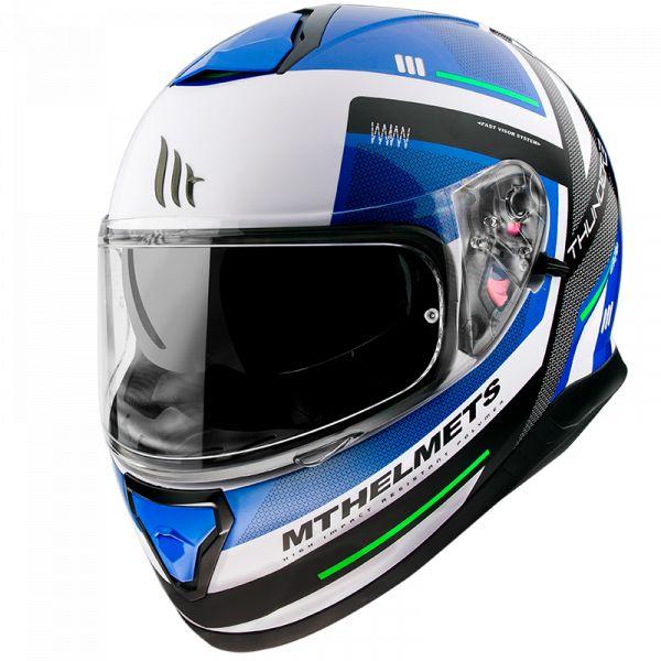Casti Moto Integrale MT Helmets Casca Moto Full-Face Thunder 3 SV Carry C7 Gloss Pearl Blue 2021