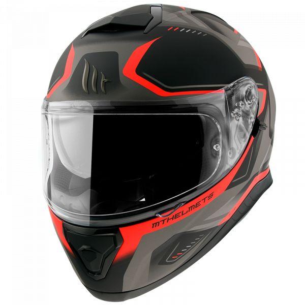 Casti Moto Integrale MT Helmets Casca Moto Full-Face Thunder 3 SV Turbine C4 Matt Fluor Orange 2021