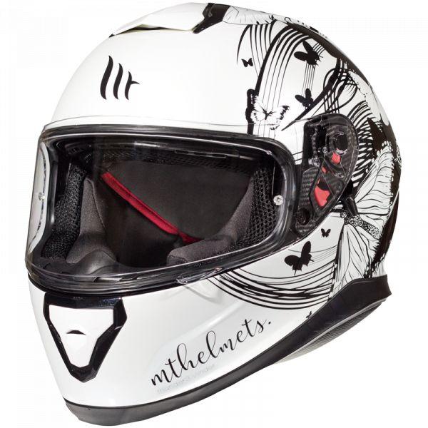 Casti Moto Integrale MT Helmets Casca Moto Full-Face Thunder 3 SV Vlinder A1 GLOSS PEARL BLACK 2021