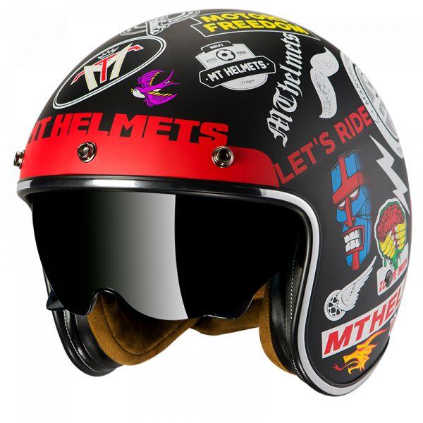 Casti Moto Jet (Open Face) MT Helmets Casca Moto Open Face/Jet Le Mans 2 SV Anarchy A1 Matt Black 2021