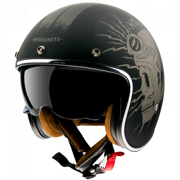 Casti Moto Jet (Open Face) MT Helmets Casca Moto Open Face/Jet Le Mans 2 SV Diler A2 Matt Grey 2021