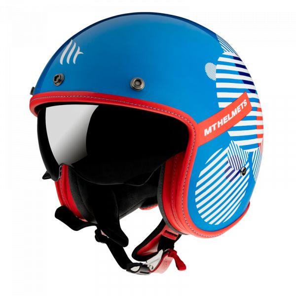 Casti Moto Jet (Open Face) MT Helmets Casca Moto Open Face/Jet Le Mans 2 SV Zero F7 Gloss Blue 2021