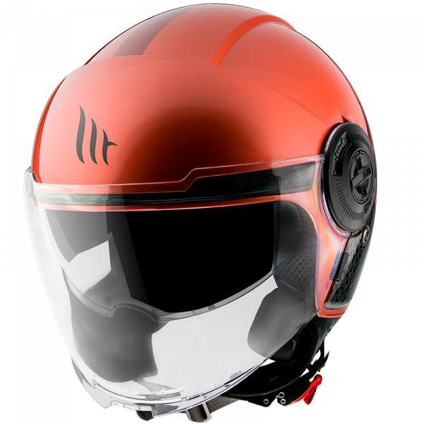 Casti Moto Jet (Open Face) MT Helmets Casca Moto Open Face/Jet Viale SV Break A5 Gloss Red 2021