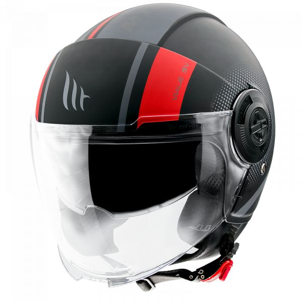 Casti Moto Jet (Open Face) MT Helmets Casca Moto Open Face/Jet Viale SV Phantom C5 Matt Red 2021