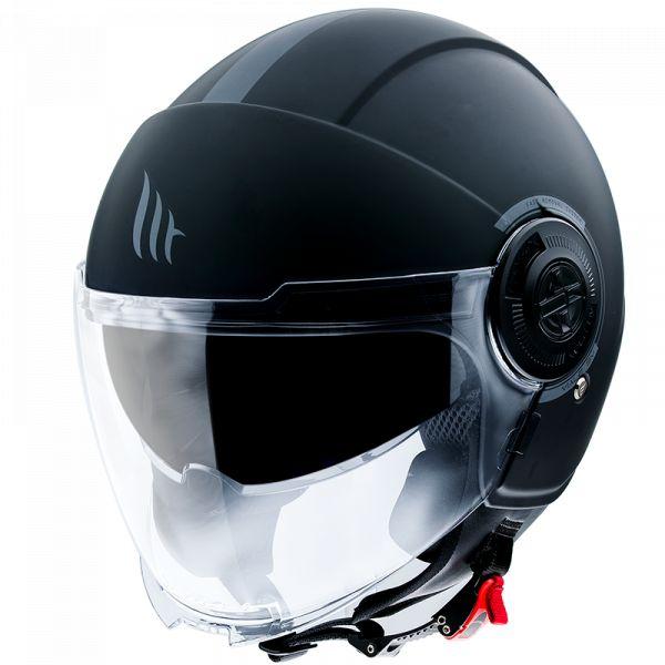Casti Moto Jet (Open Face) MT Helmets Casca Moto Open Face/Jet Viale SV Solid A1 Matt Black 2021