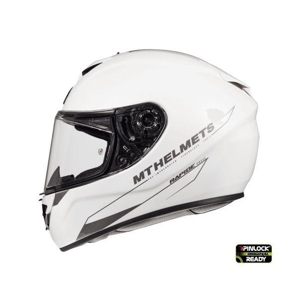 Casti Integrale MT Helmets Casca Rapide A0 White Glossy