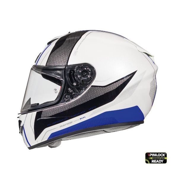 Casti Integrale MT Helmets Casca Rapide Duel D7 Blue/White/Black Glossy