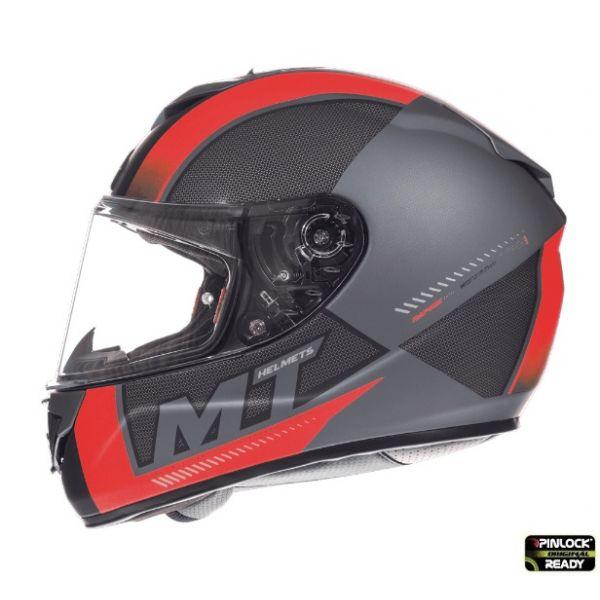 Casti Integrale MT Helmets Casca Rapide Duel D7 Overtake B1 Red/Black Matt