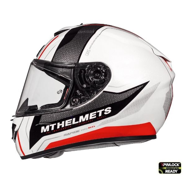 MT Helmets Casca Rapide Duel D7 Red/White/Black Glossy