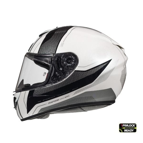 Casti Integrale MT Helmets Casca Rapide Duel D7 Silver/White/Black Glossy
