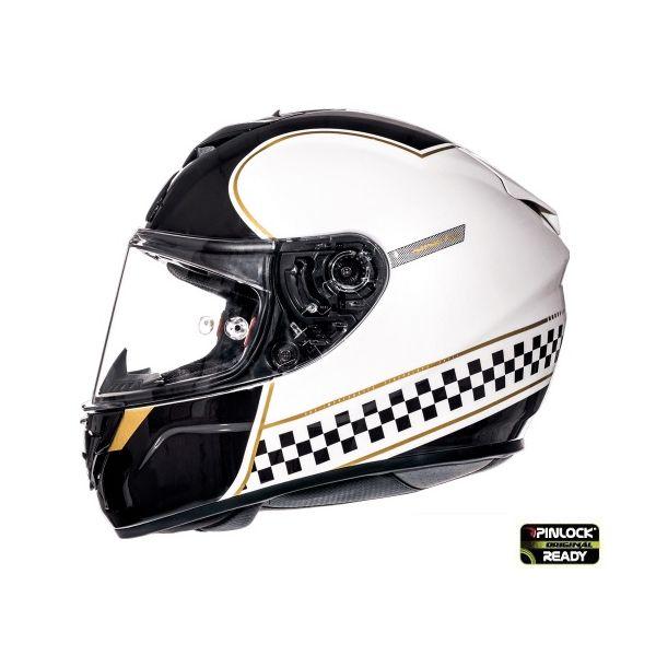 Casti Integrale MT Helmets Casca Rapide Revival B1 White/Black Glossy