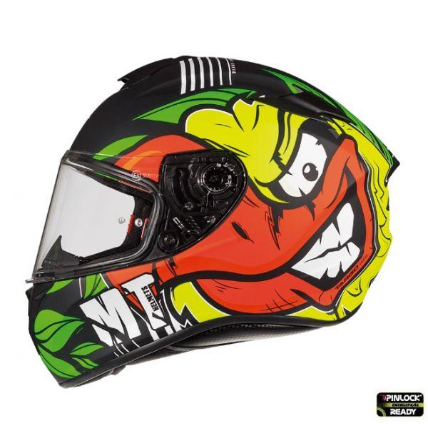 Casti Moto Integrale MT Helmets Casca Moto Full-Face Targo Truck A2 Matt Fluor Yellow 2021