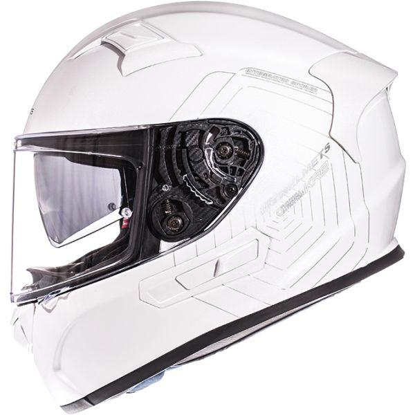 MT Helmets KRE SV Solid Gloss Pearl White Helmet
