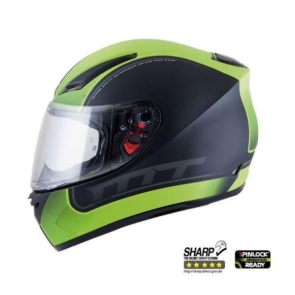 Casti Integrale MT Helmets  Revenge Binomy Black/White/Green  Glossy Helmet