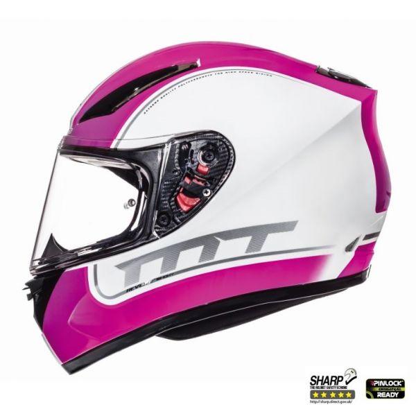 Casti Integrale MT Helmets Revenge Binomy White/Pink Glossy Helmet