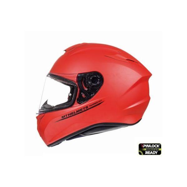 MT Helmets Targo Solid Red Mat Helmet