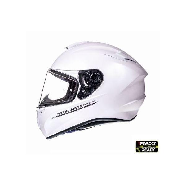 Casti Moto Integrale MT Helmets Casca Moto Full-Face Targo Solid A0 Gloss White 2021