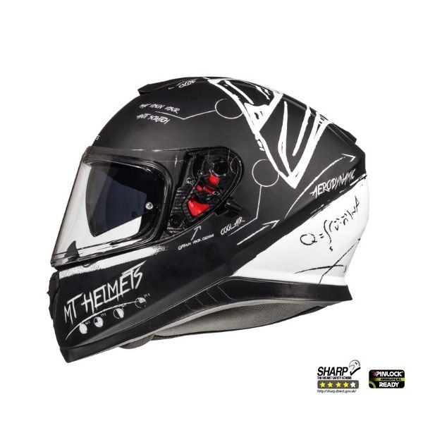 Casti Integrale MT Helmets Thunder 3 SV Board Black/White Mat Helmet