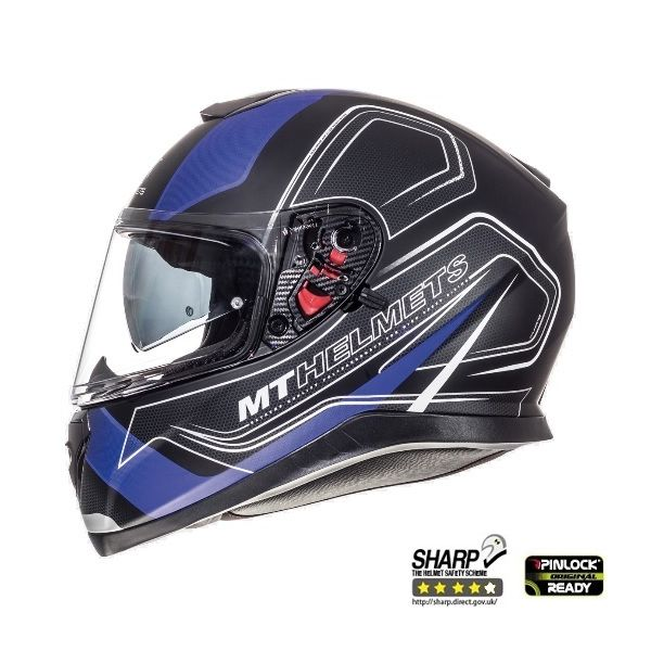 Casti Integrale MT Helmets Thunder 3 SV Trace Black/Blue Mat Helmet