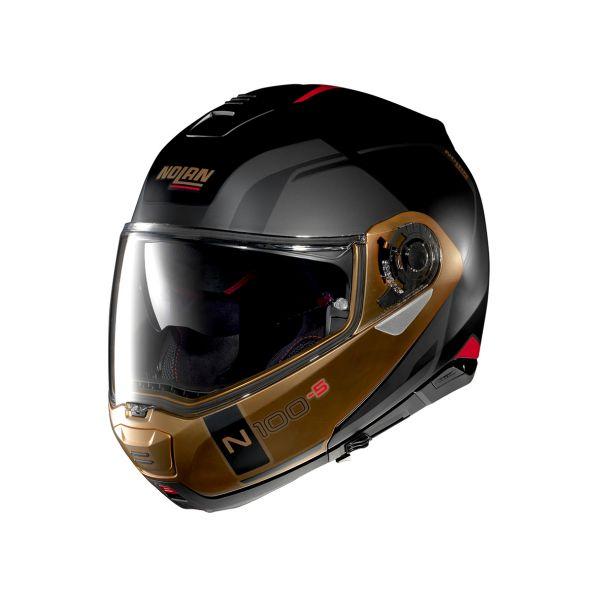 Casti Moto Flip-up (Modulabile) Nolan Casca Flip-Up N 100-5 Consistency N-Com Negru 2020