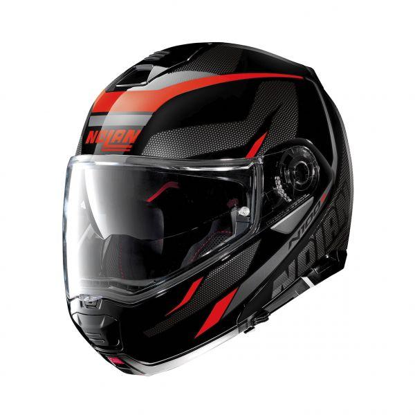 Casti Moto Flip-up (Modulabile) Nolan Casca Flip-Up N 100-5 Lumiere N-Com Negru Lucios 2020