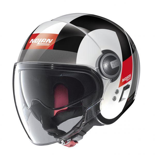 Casti Moto Jet (Open Face) Nolan Casca Mini-Jet N 21 Visor Spheroid Alb Lucios 2020