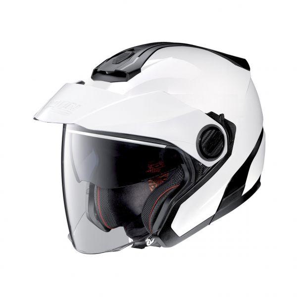 Casti Moto Jet (Open Face) Nolan Casca Crossover N 40-5 Classic N-Com Alb Lucios 2020
