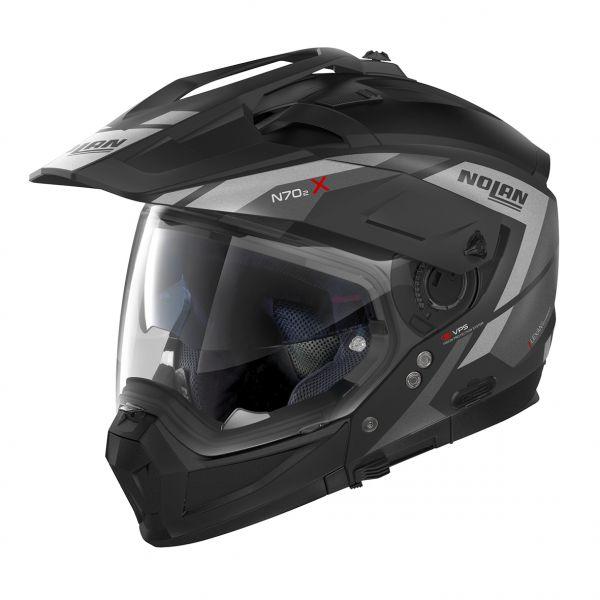 Casti Moto Integrale Nolan Casca Crossover N 70-2 X Grandes Alpes Negru/Gri 2020