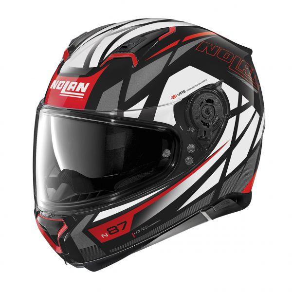 Casti Moto Integrale Nolan Casca Full-Face N 87 Originality N-Com 065 Rosu/Negru Lucios 2020