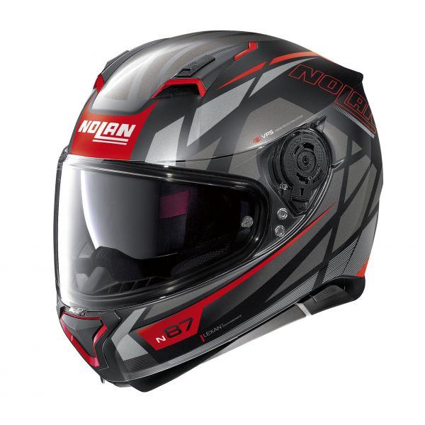 Casti Moto Integrale Nolan Casca Full-Face N 87 Originality N-Com 069 Rosu/Negru 2020