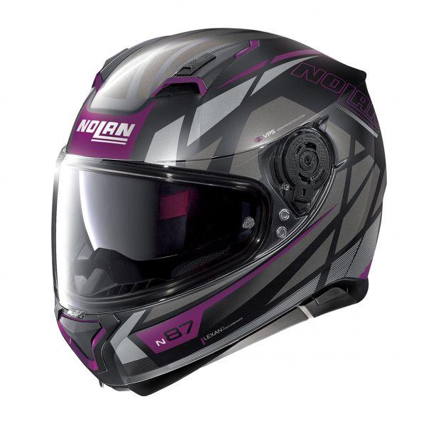Casti Moto Integrale Nolan Casca Full-Face N 87 Originality N-Com 071 Mov/Negru 2020