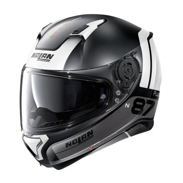 Casti Moto Integrale Nolan Casca Full-Face N 87 Plus Distinctive N-Com 023 Negru/Alb 2020